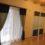 無地と柄を組み合わせたカーテン